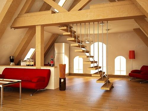 Farklı çatı çeşitleri arasında modern ahşap çatı sistemleri tercih edilmektedir.